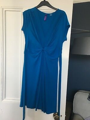 Seraphine blue maternity summer dress 12 as worn by claire sweeny