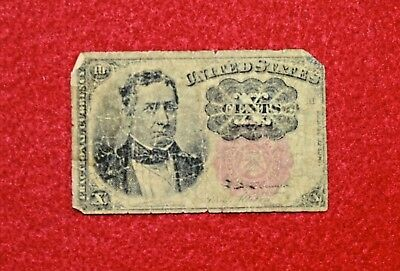 1874 25C Cents Fractional Currency Note Bill, ROUGH BUT TOUGH >>> SEE OUR STORE!