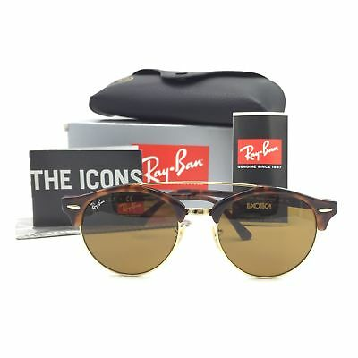 f34ca6c7d9 New Ray-Ban RB4346 990 33 Round Tortoise Sunglasses W  Brown Lens 51mm