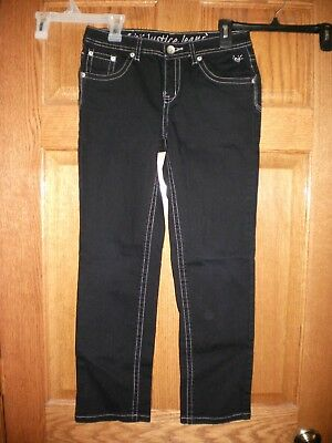 Girls Jeans Youth Size 10 1/2 Justice Black EUC