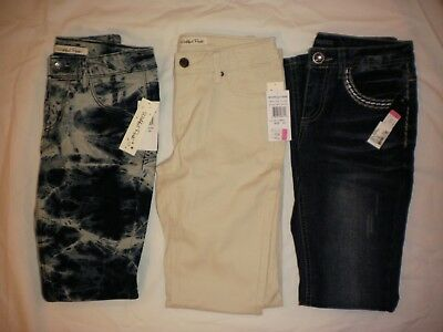 NEW Girls Jeans Lot of 3 Youth size 10-1 Brand is Squeeze, 2 are Wishful Park