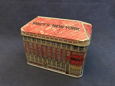 Vintage 1980s MACY'S NEW YORK Tin Ian Logan Assoc England Container Store