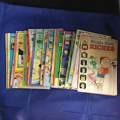 Richie Rich 21 Assorted Issues Harvey Comics 1970s Lot Vintage RARE