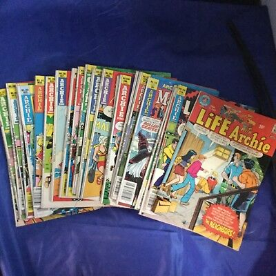 Archie Series 23 Assorted Issues Life With Archie Riverdale 1970s Lot RARE