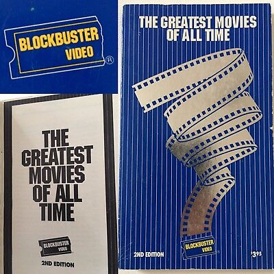 BLOCKBUSTER VIDEO - 'Greatest Movies Of All Time' Vintage Book  1927-1990