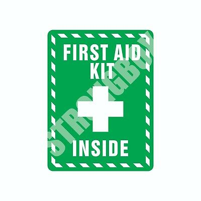 Industrial Safety Decal Sticker FIRST AID KIT INSIDE label