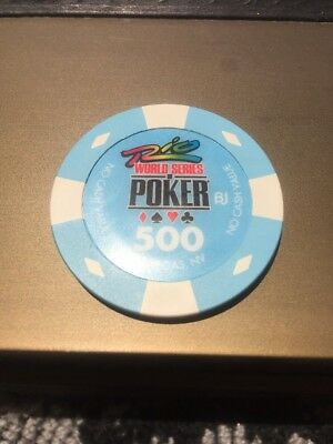 Authentic WSOP Collectable Casino Poker Chip  Tournament WSOP 500 NCV