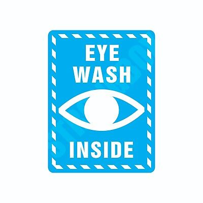 Industrial Safety Decal Sticker EYE WASH INSIDE label