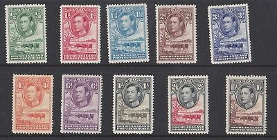 Bechuanaland  1938 - 52  Sg 118-128  Varvalues To 10/- Mh Repaired Tear To 10/-