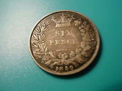 British - Silver - 1850 Sixpence In Very Nice Condition