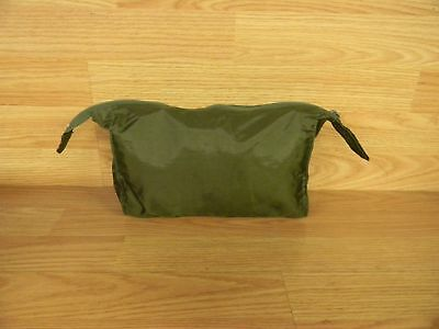 German Military Ditty/toiletries Bag Zippered Top Vinyl Woven Free Shipping!!!!!