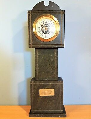 Vintage Miniature Slate Grandfather Clock, Mercedes West Germany, Working order