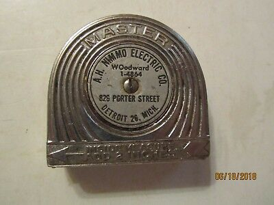 AH Nimmo Electric Co Detroit, Mich 6' Tape Measure Made by Master USA