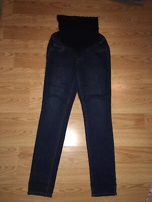 Jessica Simpson Skinny Maternity Jeans Dark Wash  Straight navy  full panel M