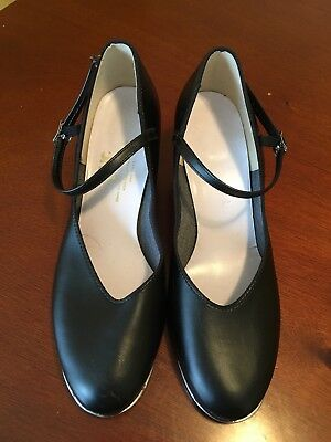 Womens Black Leo's Tap Shoes Size 9 1/2