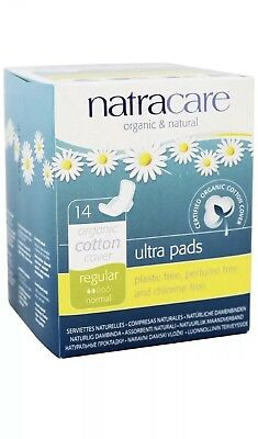 Natracare Natural Ultra Pads with Wings, Regular 14 ea (Pack of 3) (S2