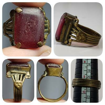 Medieval Rare Old Glass Wonderful Stunning Ring    # 1G