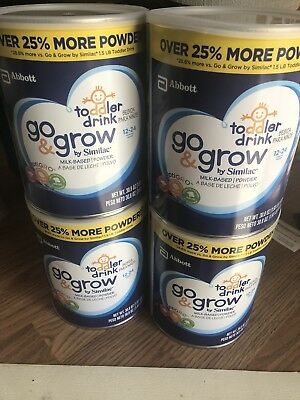 Similac Go & Grow, Toddler Drink,4 cans- 116 oz Total May 2019