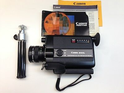 Vintage Canon 310XL camera with case and tripod