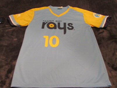 factory price f77a4 d11bf TAMPA BAY RAYS Men's SIZE XL Corey Dickerson 10 Throwback Jersey Promo MLB  Retro
