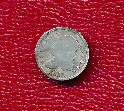 1835 Capped Bust Silver Half Dime **nice Circulated Coin** Free Shipping!
