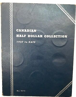 Canadian Half Dollar Collection Book - 11 Coins