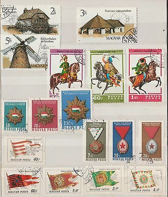 HUNGARY COLLECTION on Album Page Flags, Buildings, etc VFU as per scan #
