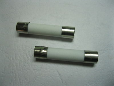 "2 pcs MICROWAVE 20A 250V CERAMIC FAST BLOW FUSE 6x30mm (1/4"" x 1-1/4"") ABC20A"