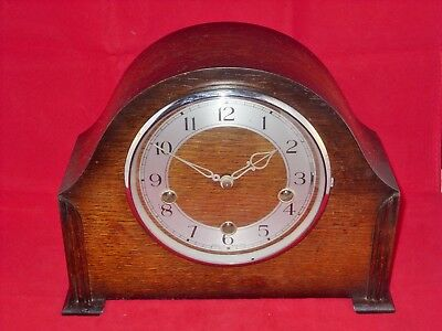 8Day Westminster' Chiming Mantel Clock By Smiths Enfield In Good Working Order.