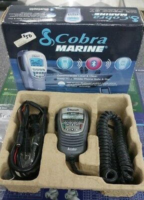 New Cobra Marine Mr F300 Bt Waterproof Handset W/ Bluetooth Technology