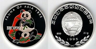 KOREA   500 Won 1995   Panda   Fauna of Asia   1 OZ.   Silber/PP