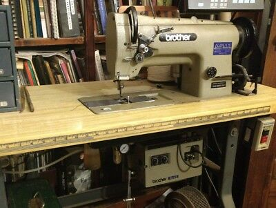 BROTHER INDUSTRIAL SEWING Machine Leather Vinyl Work Model No LS40 Awesome Brother Industrial Sewing Machines