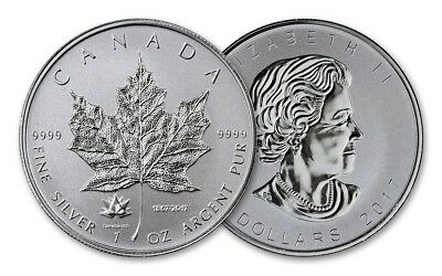 2017 Canada Silver Maple Leaf 1 oz. Coin 150th Anniversary Privy Reverse BU