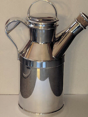 Vintage Reed and Barton silverplate milk can cocktail shaker