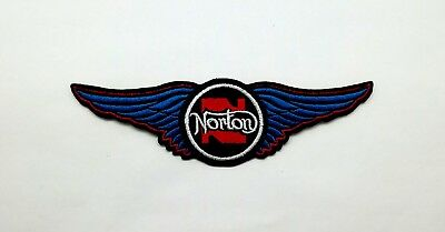 NORTON Embroidered Sew Iron on Patch Machines Vintage Classic Motorcycle Jacket