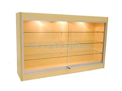 CA SALE! Maple Color Wall Showcase Display Store Fixture Knocked Down #WC439M