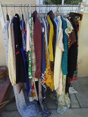 30 Piece - 1940s 1950s Women's Vintage Clothing Lot - Dresses Skirts ~ Tops