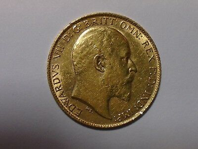 1910 Gold Half Sovereign Coin