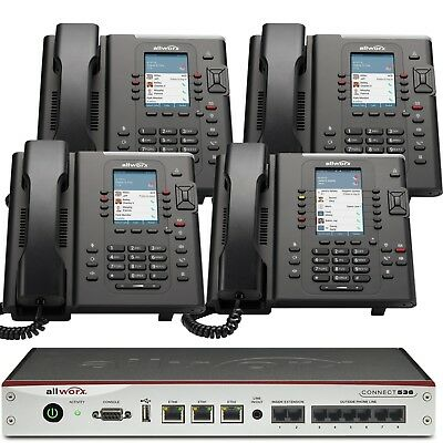 Allworx Connect 536 Business Phone System with 4 Color Display Verge IP Phones