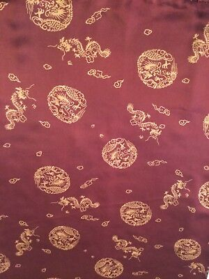 """Vintage Chinese Silk Scarf 64"""" long 22""""wide"""