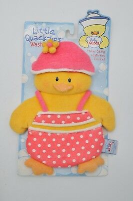 Baby Gund Little Quack-Ups Wash Mitt Mitten Washcloth Bath Shower Wash Plush