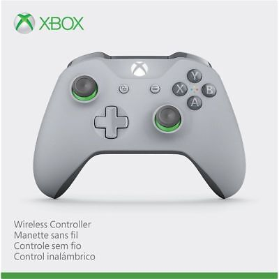 Microsoft Xbox One & One S Wireless Controller Grey & Green WL3-00060 OPEN BOX
