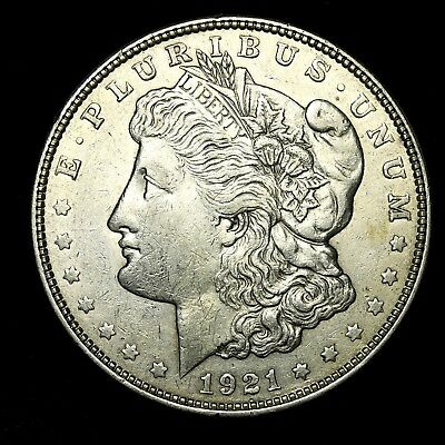 1921 D ~**ABOUT UNCIRCULATED AU**~ Silver Morgan Dollar Rare US Old Coin! #W4