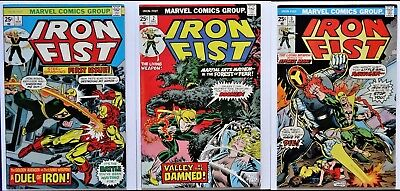 Iron Fist #1 - 2 - 3 (1975) - 1st series - MVS's Intact - VF/VF+