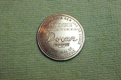 Vintage-Token-Coin-Medal-Doran Chevrolet-Dallas, Texas-Good For Cup Of Coffee