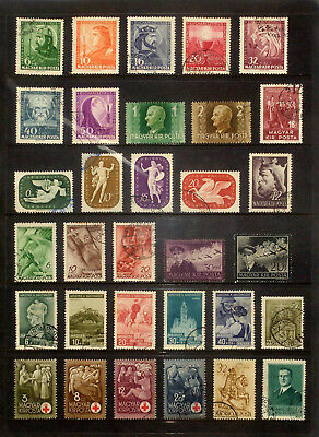 Page of earlier stamps & sets from Hungary #4