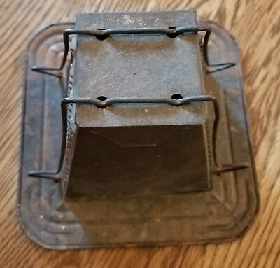 Vintage Antique 2 Sided Metal Slice Toaster Stove Top Campfire Camping