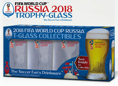 Russia 2018 FIFA World Cup Trophy-glass - Set of 4 Gift-Box - Soccer Fan's Beer