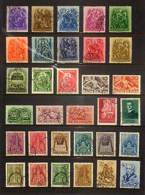 Page of earlier stamps & sets from Hungary #5
