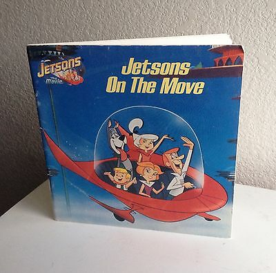 Vintage Jetsons Children's Book 90s 1990 On The Move From Movie Film Paperback